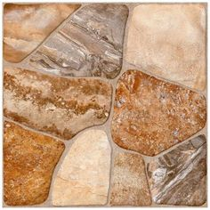 Lyon Caliza 17-3/4 in. x 17-3/4 in. Multicolor Ceramic Floor and Wall Tile - Home Depot $2.87 sq ft