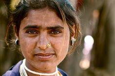 Inde, India, Jeune femme gitane (Philippe Guy)