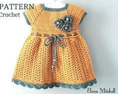 Crochet PATTERN Baby Dress Baby Girl Pattern Crochet Newborn Outfit Infant Dress Pattern Baby Girl Clothes Crochet Baby Dress PATTERN PDF