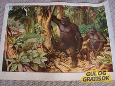 Skøn gammel skolekort/plakat, 100kr