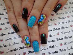 Unhas Decoradas com Flores #unasdecoradas