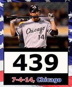Paul Konerko hits his 439th home run on his final Fourth of July baseball game. #konerko whitesox #chisox
