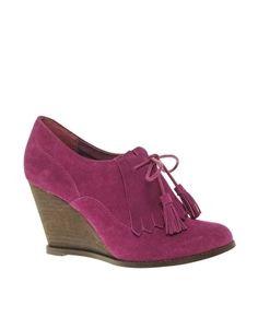 ASOS TASSEL Suede Wedge Shoe Boot - StyleSays