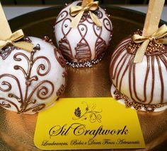 Maçãs decoradas de chocolate - sugestão Dia dos professores
