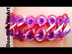 Craft: Taffy Twist - How to Make a Taffy Twist Bracelet on Rainbow Loom - Step by Step tutorial - YouTube