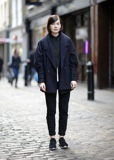 Malgorzata Bany – Painter  Trousers: Nike, jeans: Esprit, coat and shirt: Vintage, jacket: Nitya http://www.shaunjamescox.com