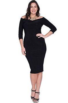 f5b1d4b90b9 Nyteez Women s Plus Size Off Shoulder Sheath Dress