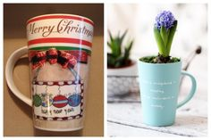 From old or ugly cup to nice planter. DIY, reuse, painting, substitle