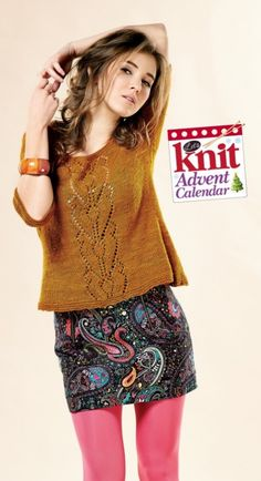 No Sew Lace Sweater - free knitting pattern download from the Let's Knit Advent Calendar!