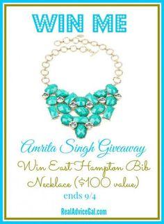 Win a gorgeous Amrita Singh necklace