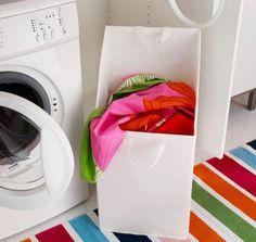 LILLÅNGEN Wäscheschrank in Weiß mit Wäschekörben