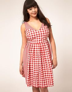 Enlarge ASOS CURVE Exclusive Sundress In Gingham