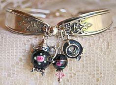 Deep Dark Purple Tea Time Spoon Bracelet