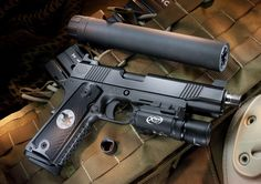 Nighthawk custom 1911, threaded barrel, surefire X300 weaponlight