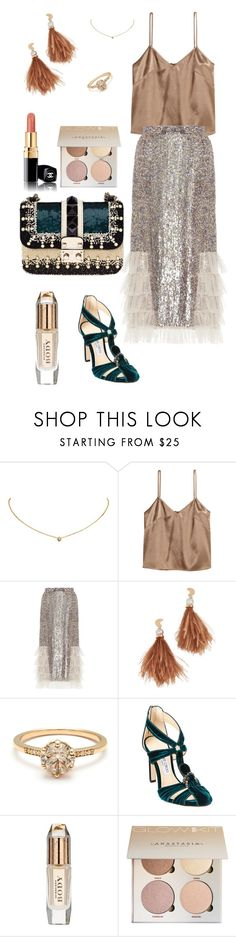 """""""Nude Perfection"""" by olga-litvin ❤ liked on Polyvore featuring Cartier, Rodarte, Valentino, Lizzie Fortunato, Jimmy Choo, Burberry and Chanel"""