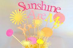 Sunshine Birthday Parties, 1st Birthday Parties, Birthday Party Decorations, Party Themes, Birthday Ideas, Party Ideas, Baby Girl 1st Birthday, Bday Girl, You Are My Sunshine