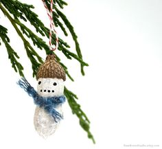 Awesome Etsy find: Christmas peanut ornaments by Raw Bone Studio