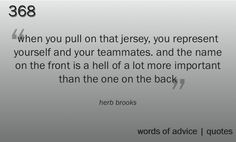 A great quote from a hockey player but it definitely applies to soccer too.