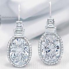 Diamond earrings #MartinKatzJewels