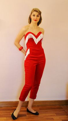 50s Atomic Bust Dolça Jumpsuit custom made in by MariaGuyeClothing