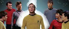 Captain Kirk and the bridge crew