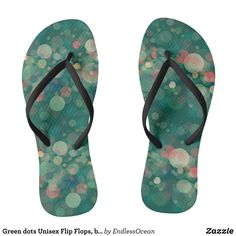 Green dots Unisex Flip Flops bubbles dreamy pool Flip Flops - Durable Thong Style Hawaiian Beach Sandals By Talented Fashion & Graphic Designers - #sandals #flipflops #hawaii #beach #hawaiian #footwear #mensfashion #apparel #shopping #bargain #sale #outfit #stylish #cool #graphicdesign #trendy #fashion #design #fashiondesign #designer #fashiondesigner #style