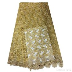 African Fashion Embroidery Mesh Lace Fabrics With Sequins Modern Design New Nigerian Chiffon Lace Fabrics Apparel Sewing & Fabric