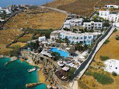 Kivotos Mykonos Hotel 5 Stars luxury hotel villa in Ornos Offers Reviews