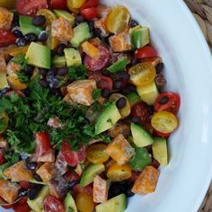 Spicy Sweet Potato Salad - Excellent Side Dish for BBQ'S! | Clean Food Crush
