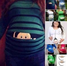 Peek-a-Boo! Maternity T- shirt