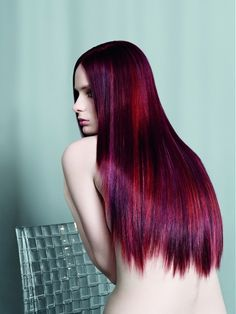 long red purple hair... it wouldn't look right on me but this is pretty