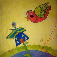 birds | Artfabrik – Extraordinary Hand-Dyed Fabrics & Threads | Page 6 Iron On Applique, Fabrics, Birds, Quilts, Painting, Art, Tejidos, Art Background, Quilt Sets