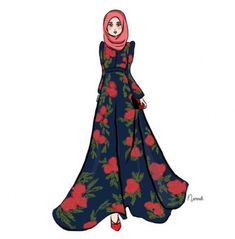 ❤️True style is not about having a closet full of expensive and beautiful things- it is instead about knowing when,where and how to utilize your collection. Muslim Fashion, Modest Fashion, Hijab Fashion, Trendy Fashion, Fashion Models, Girl Fashion, Hijab Stile, Modele Hijab, Fashion Illustration Dresses
