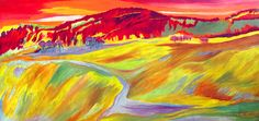 Landscape In Abstract Expressionism Painting  -