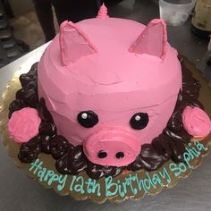3D Pig cake Animal Cakes, Piggy Bank, 3d, Money Box, Money Bank, Savings Jar