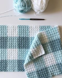 I happen to have two gingham blankets going right now and I need to post the details of this one before I forget. .. I ran across the two…