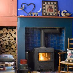 Living room with wood burning stove   Living room decorating ideas   Woodburning Stoves   Image   Housetohome