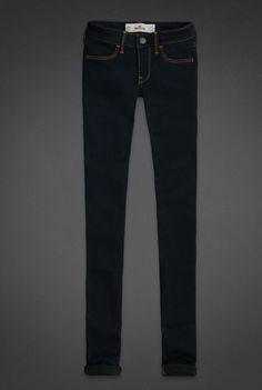 Dark wash Hollister jeans.