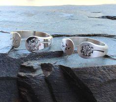 Dandelion ring Dandelion jewelryArgentium by DesignsByDomino