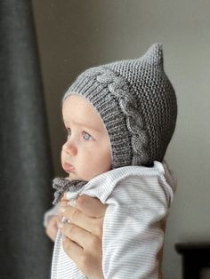 Knitted Baby Clothes, Baby Hats Knitting, Baby Knitting Patterns, Knitted Hats, Crochet Patterns, Crochet Baby Bibs, Crochet For Kids, Knit Crochet, Crochet Hats
