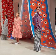 Marimekko SS18 ready-to-wear-collection at Paris Fashion Week. Make-up by Lyne Desnoyers and @maccosmetics, hair by Kenji Toyota for…