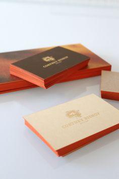 orangey business cards