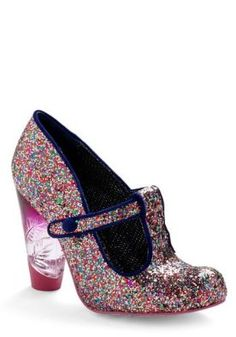 Irregular Choice Glitter Bug heel