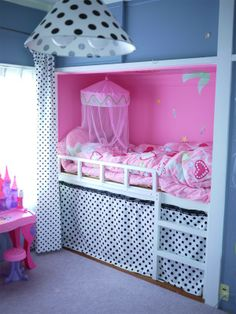 cute girl's closet bed with cheap materials from Nitori (like IKEA), etc.