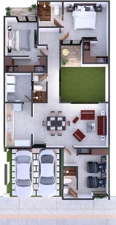 Amazing Top 50 House Floor Plans The price reach of the Apartment was amazing. House Floor Design, Sims House Design, Home Design Floor Plans, Home Building Design, Bungalow House Design, Small House Design, Modern House Design, Modern Houses, Luxury Houses