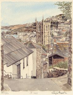 St Ives - downhill - Portraits of Britain