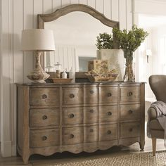 Cobblestone Bedroom Cobblestone Dresser and Mirror by Schnadig
