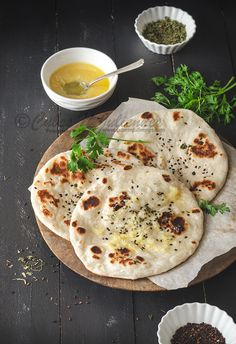 Kulchas are very popular leavened flat bread eaten mostly in India and Pakistan.The dough of the kulchas are kept for few hours to proof, then its rolled flat and baked in an earthen clay pot/tandoor. When making at home you can either bake them in an oven or on a stove top. I …