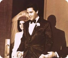 Wedding day for Elvis and Priscilla May 1967
