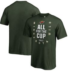 Minnesota Wild Fanatics Branded Youth 2018 Stanley Cup Playoffs Bound  Behind The Net T-Shirt – Green 03872565cfeb